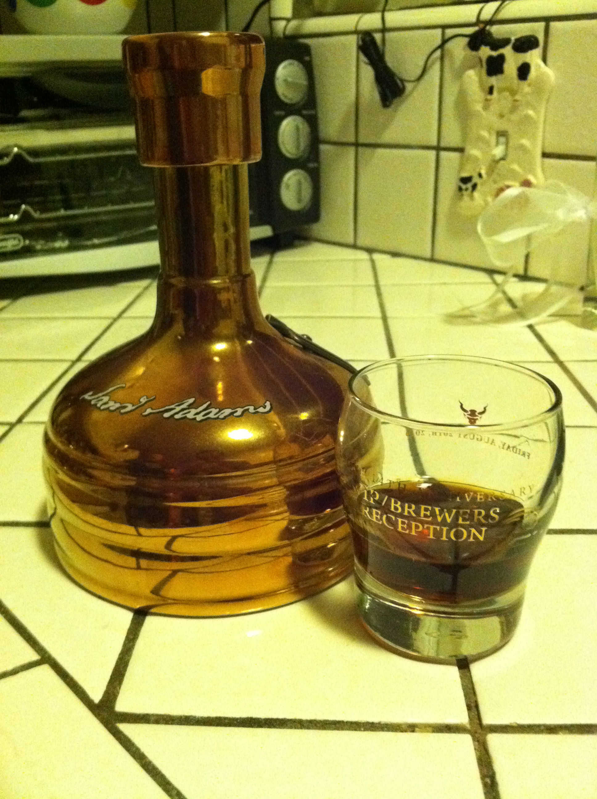 Sam Adams Utopias, $220 bottle of beer, 27% alcohol by volume, where are my  shoes?