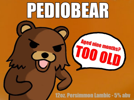 Label for the Persimmon Lambic Homebrew is done. Pediobear.