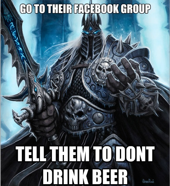 GO TO THEIR FACEBOOK GROUP: TELL THEM TO DONT DRINK BEER