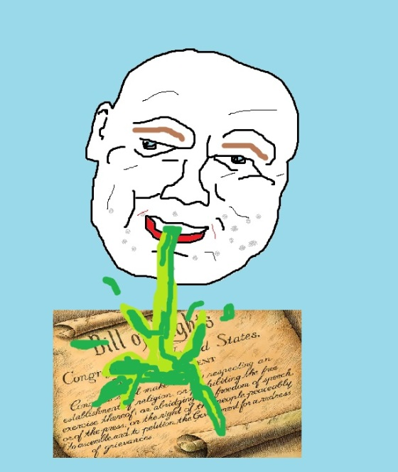 Since Mr. Tarry doesn't want his photo used, I drew him in MS Paint vomiting on the First Amendment.  Now it is art and therefore protected.