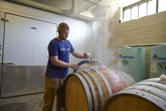 Cory takes expert care with his barrels, despite the fact that all matter will ultimately be destroyed by entropy